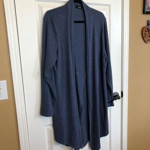 Apt. 9 Country Dark Blue Cardi, Open Slits in Back